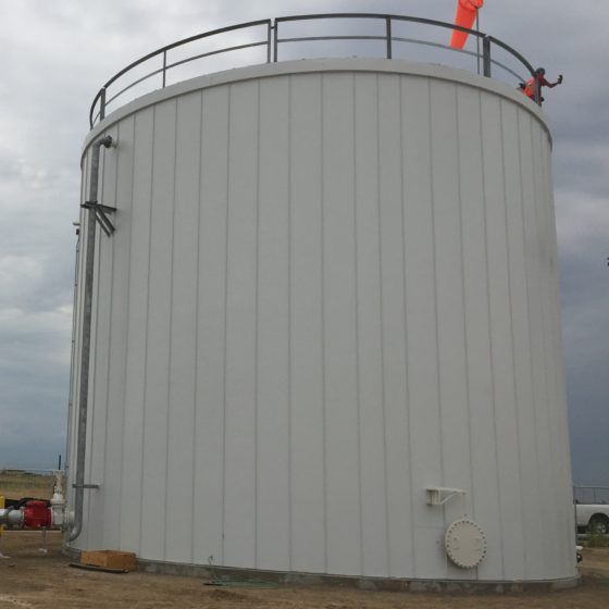 Panel System Insulation Fire Water Tank | ATI Insulation, Inc | CO, WY, TX